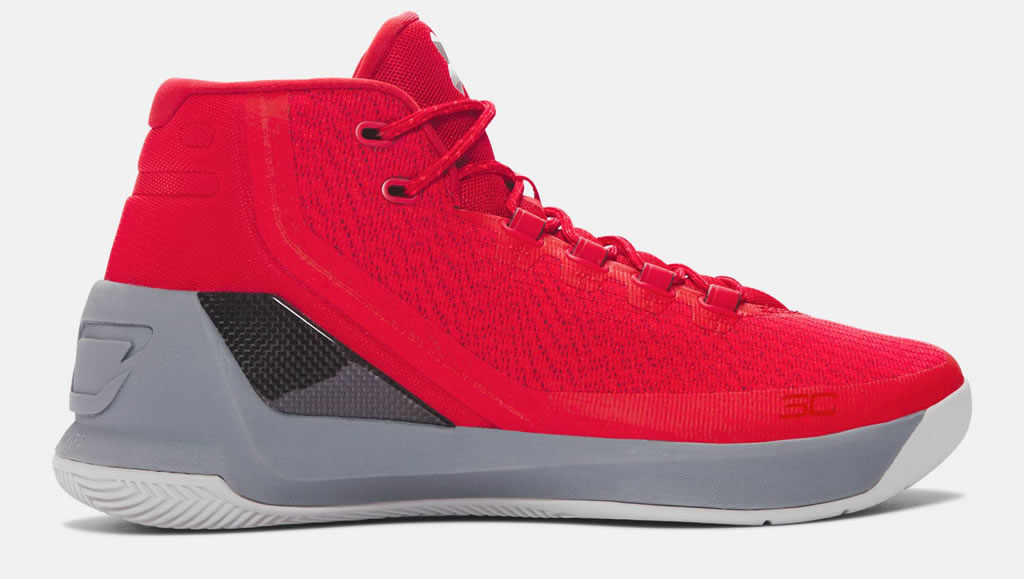 Red Curry 3 Basketball Shoes For Men by UA
