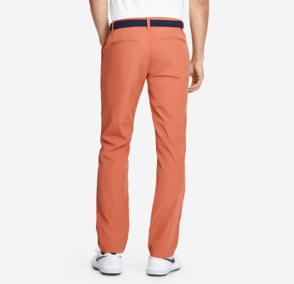 Red Lightweight Highland Golf Pants for Men, Back