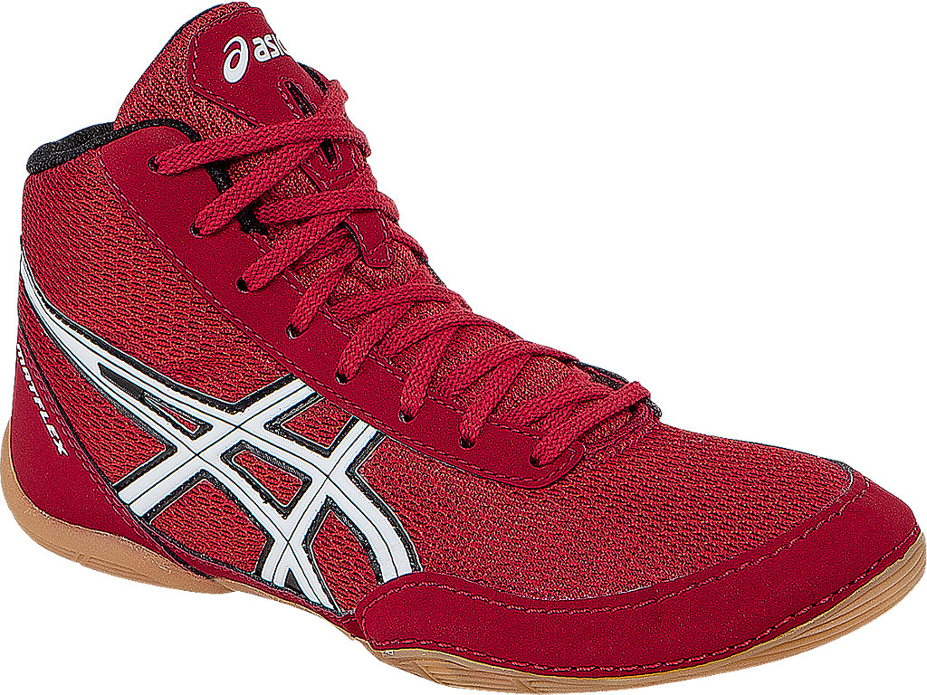 Red Matflex 5 GS Wrestling Shoes by Asics