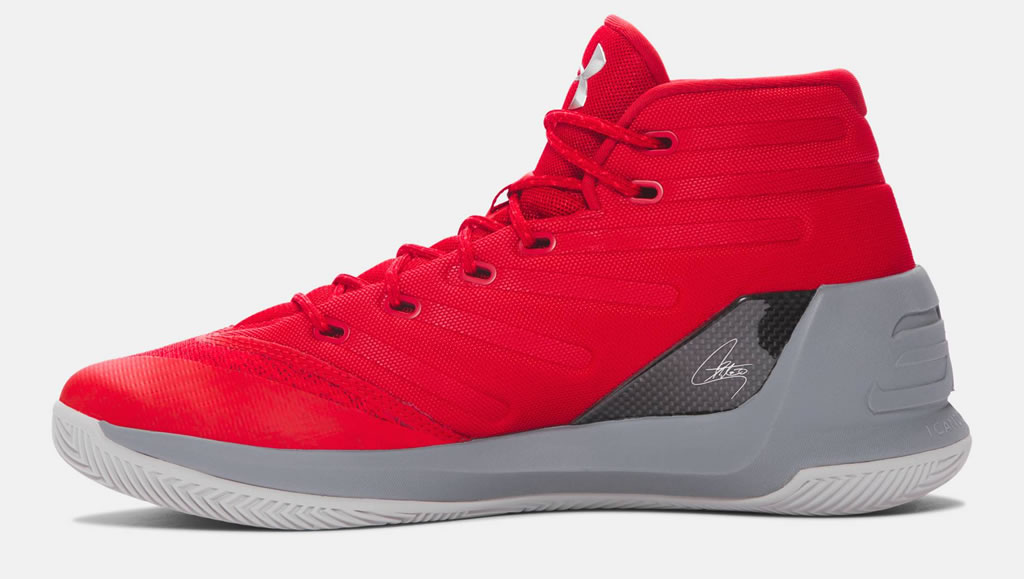 Red Men's Curry 3 Basketball Shoes by UA