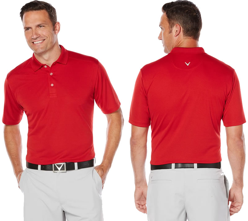 Red golf shirt for men by Callaway