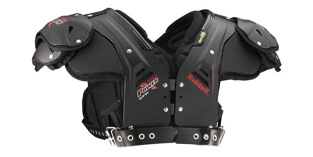Riddell shoulder pads for linebackers