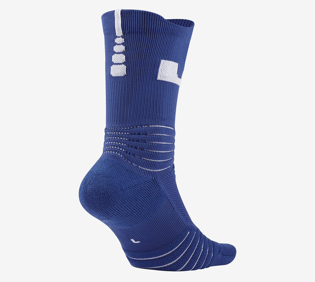Royal LeBron Elite Versatility Crew Basketball Socks by Nike