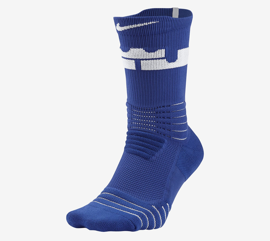 Royal LeBron Elite Versatility Crew Socks by Nike