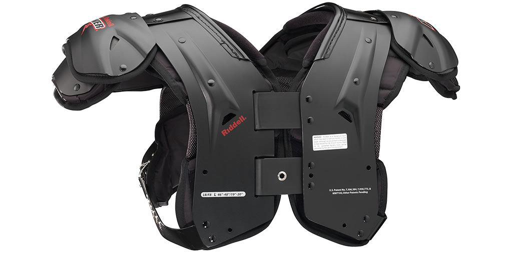 Shoulder pads for linebackers by Riddell