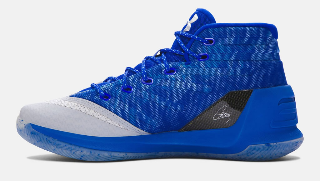 Steel Men's Curry 3 Basketball Shoes by UA