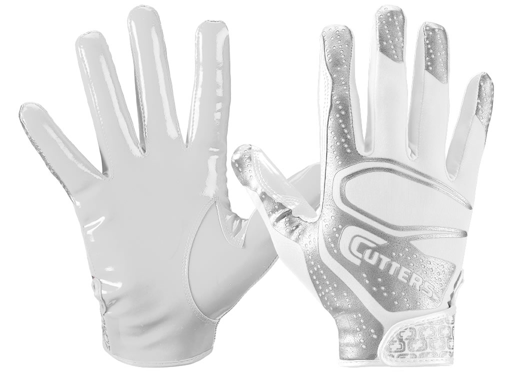 White S251 Rev 2.0 Football Gloves by Cutters