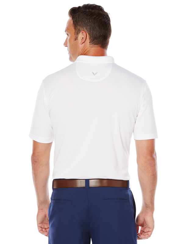White golf shirt for men by Callaway, Back