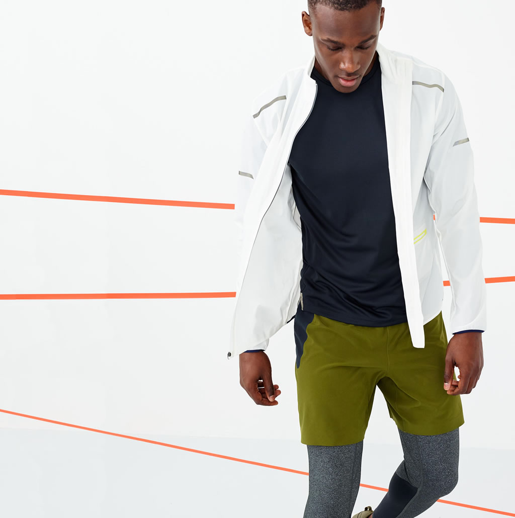 White workout jacket by J.Crew
