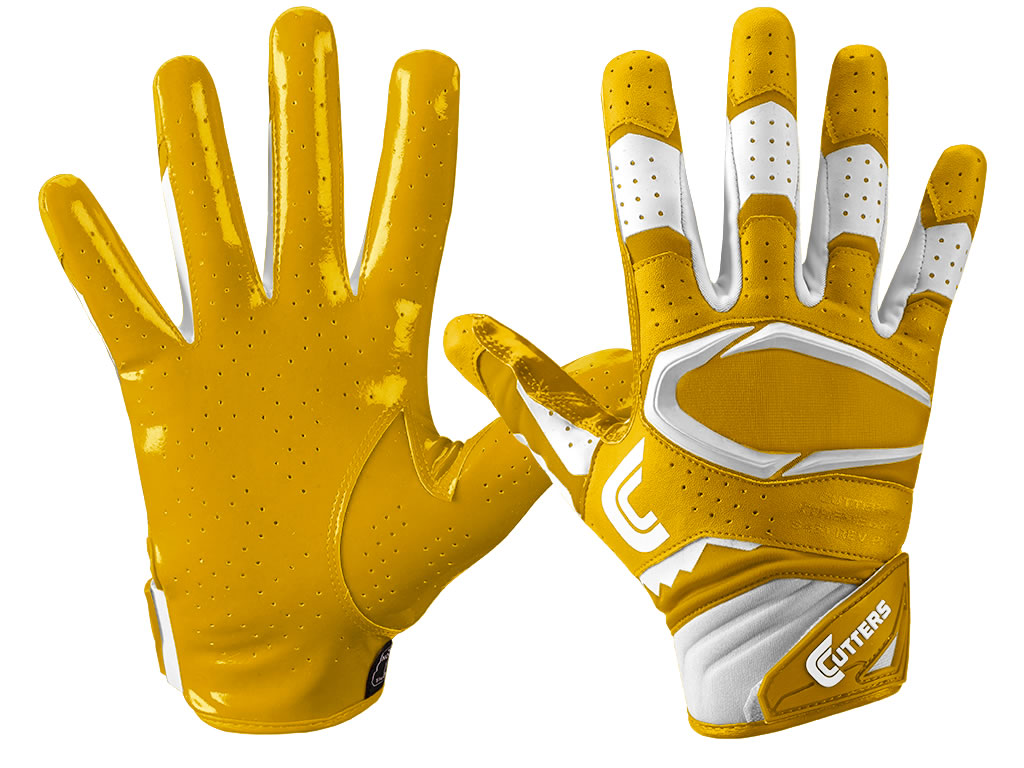 Yellow S451 Rev Pro 2.0 football gloves by Cutters