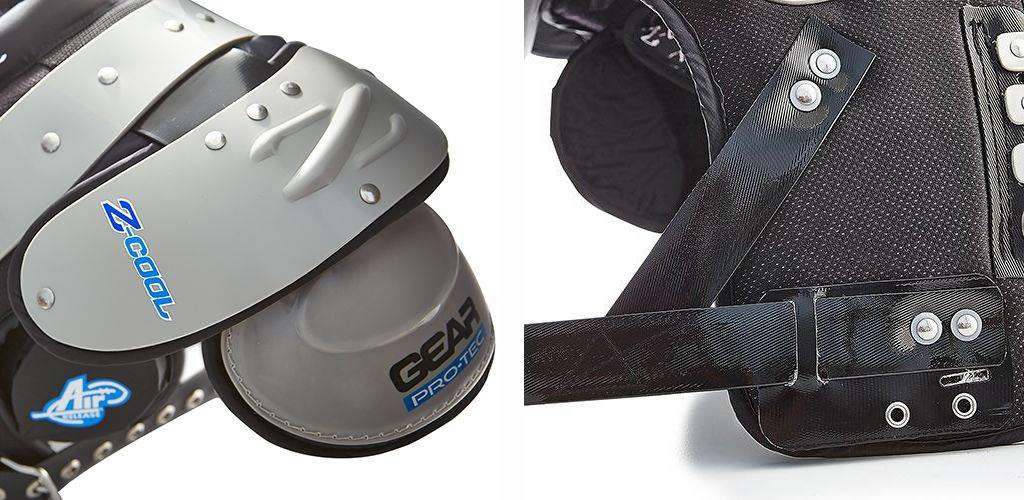 Z-Cool Adult Football Shoulder Pads by Gear Pro-Tec