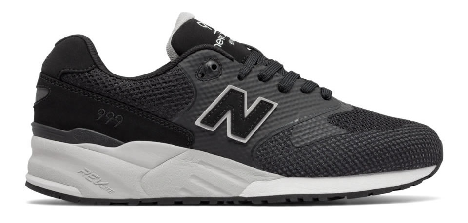 Black 999 Re-Engineered Sneaker By New Balance, Side
