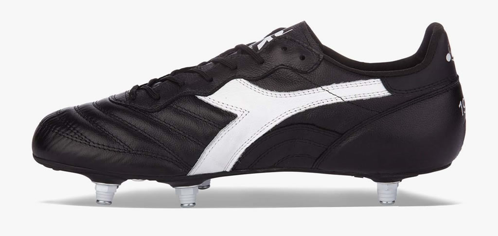 Black Leather Soccer Cleats By Diadora
