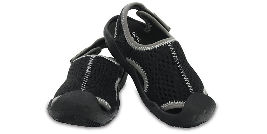 Black Swiftwater Sandals By Crocs