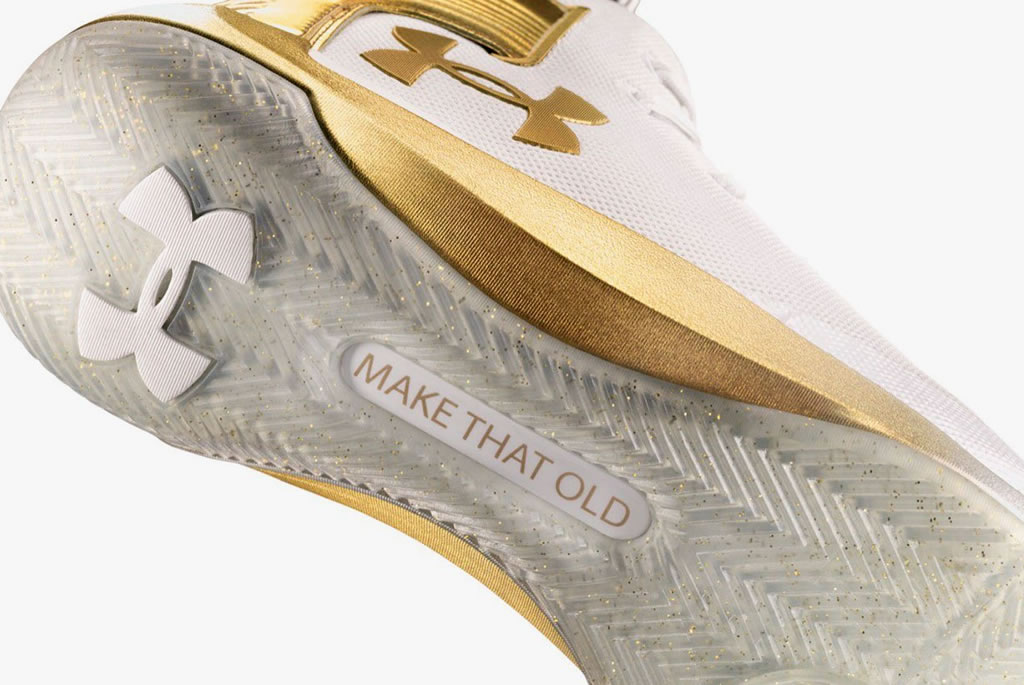 CURRY 3ZER0 Limited Gold Edition by UA, Sole