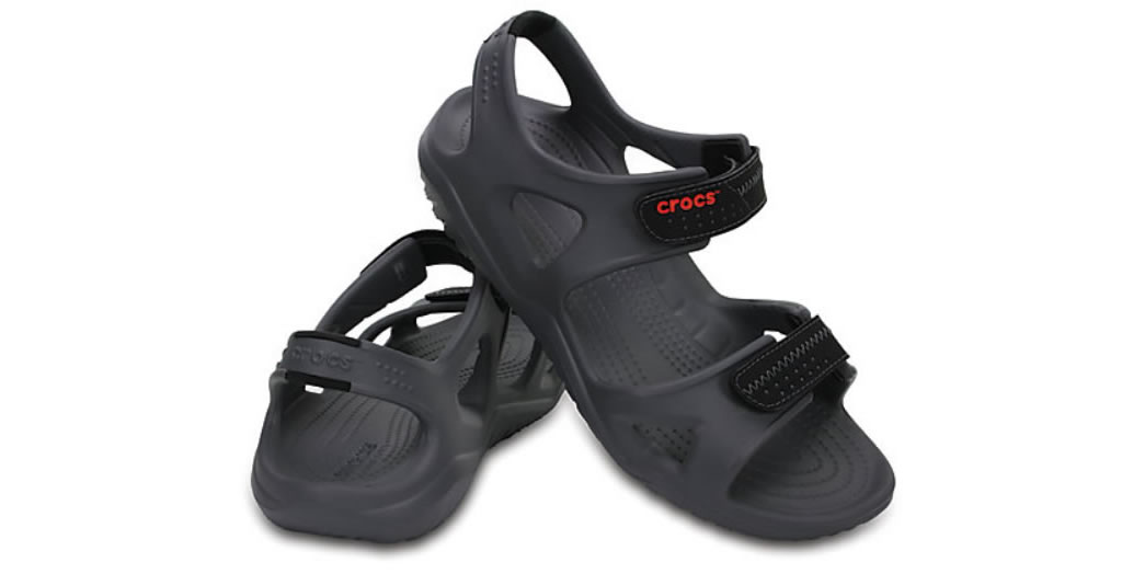 Charcoal Men's Swiftwater River Sandals By Crocs