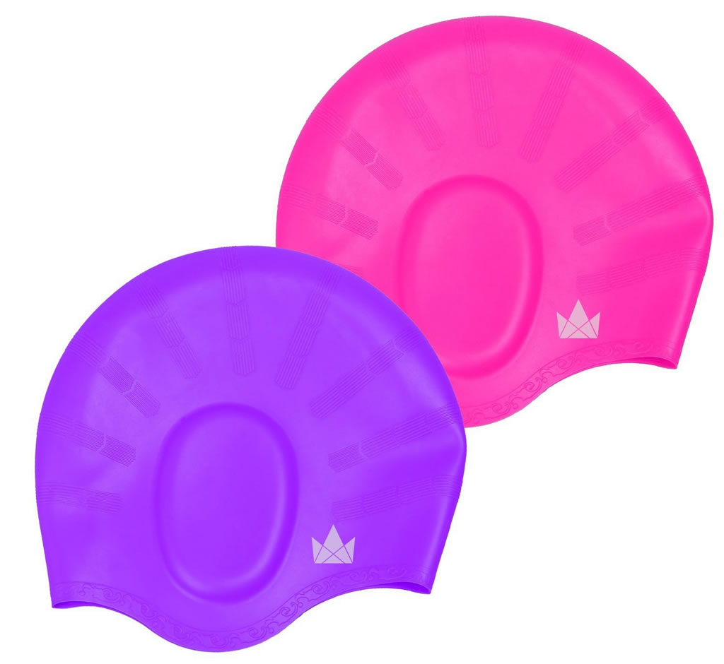 Friendly Swede Silicone Long Hair Swim Caps