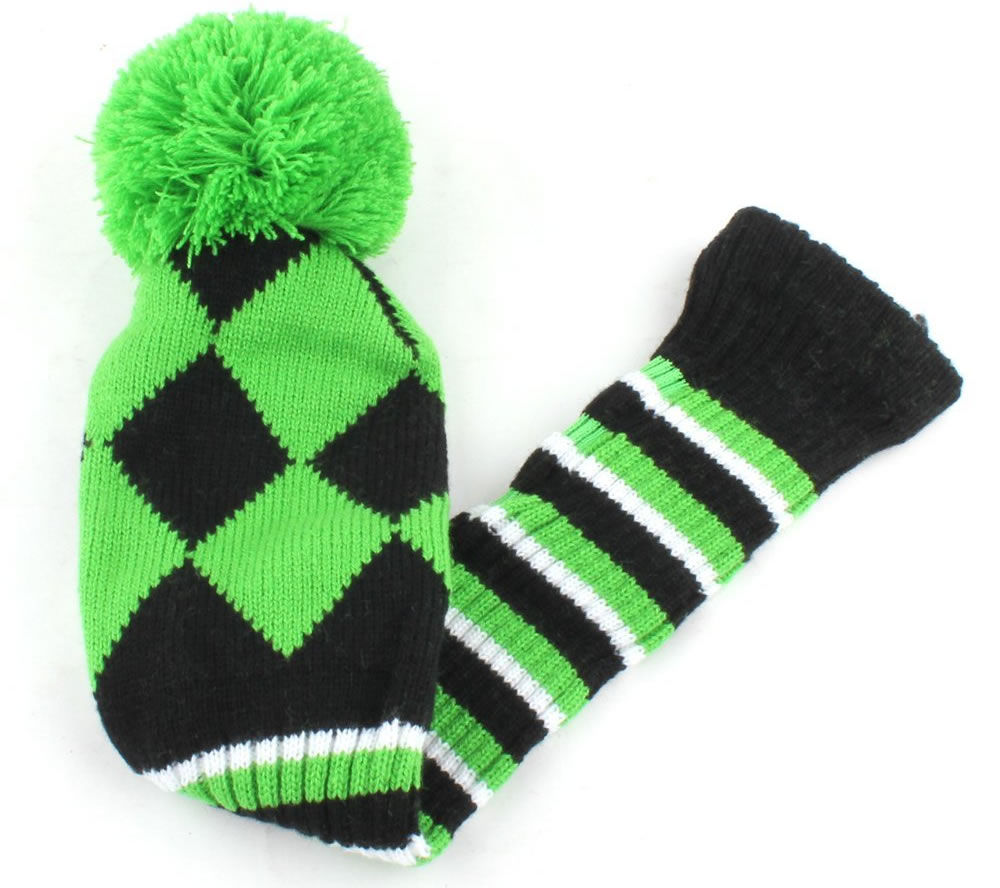 Golf Club Knit Head Cover, Long neck sock