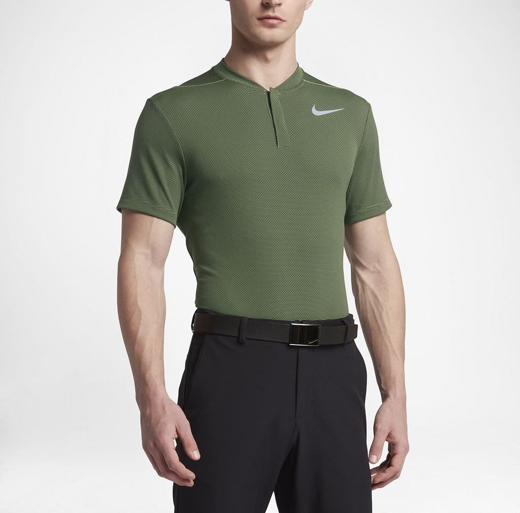 Green AeroReact Men's Slim Fit Golf Polo by Nike