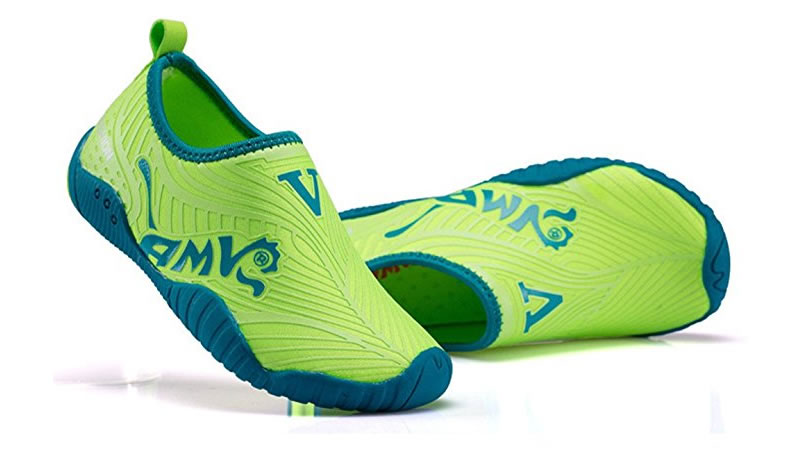 Green Water Shoes for Kids by CIOR