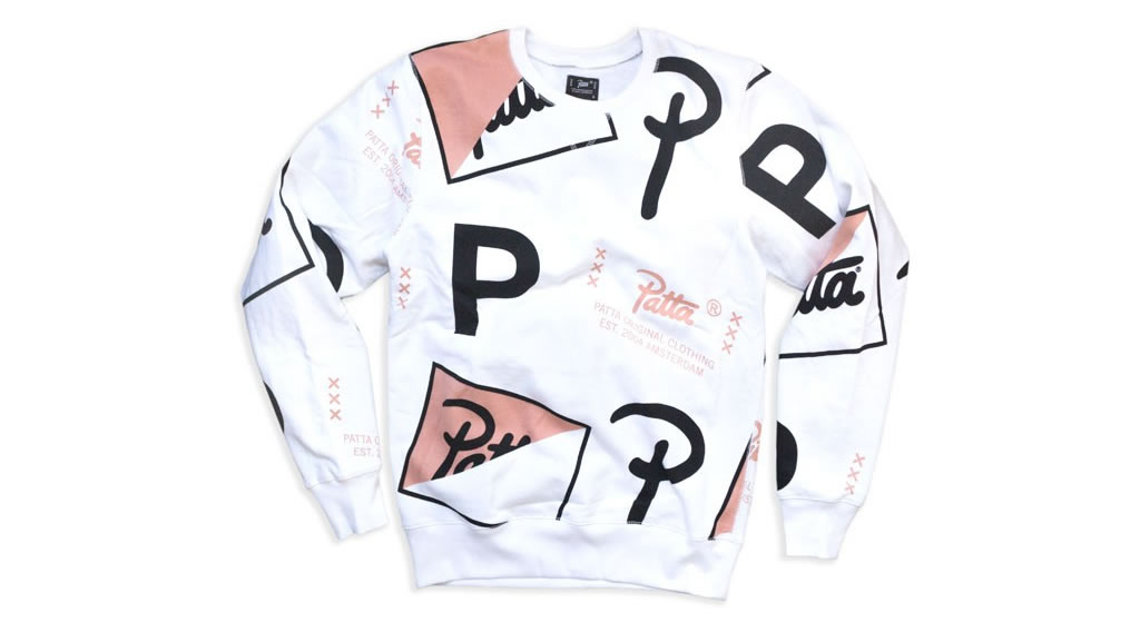 Half Script Allover Crewneck Sweater By Patta