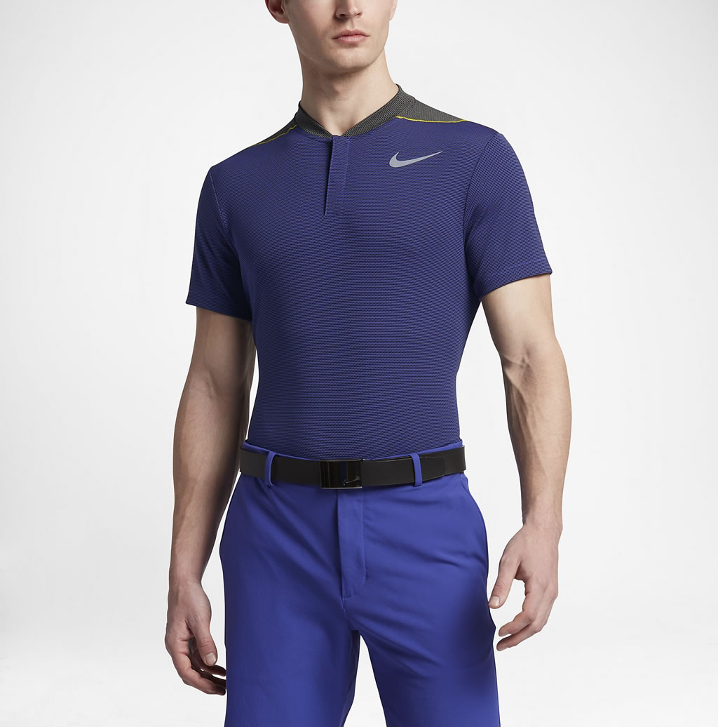 Navy AeroReact Men's Slim Fit Golf Polo by Nike
