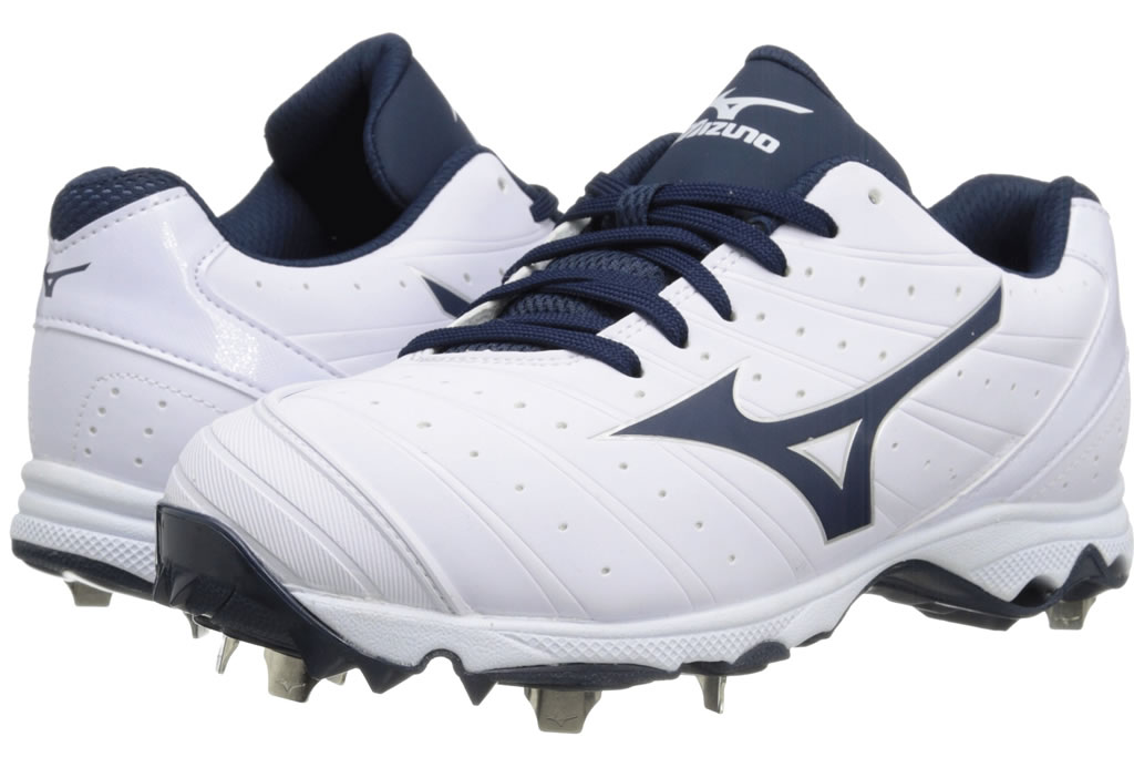 Navy Women's 9-Spike Advanced Sweep 2 Cleat By Mizuno