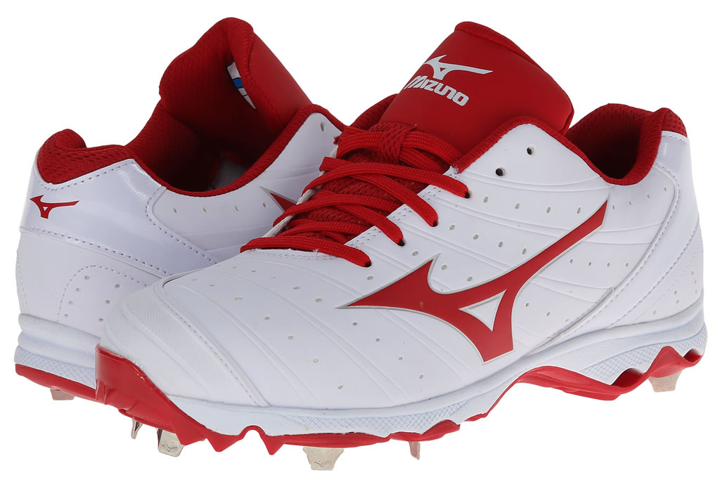 Red Women's 9-Spike Advanced Sweep 2 Cleat By Mizuno