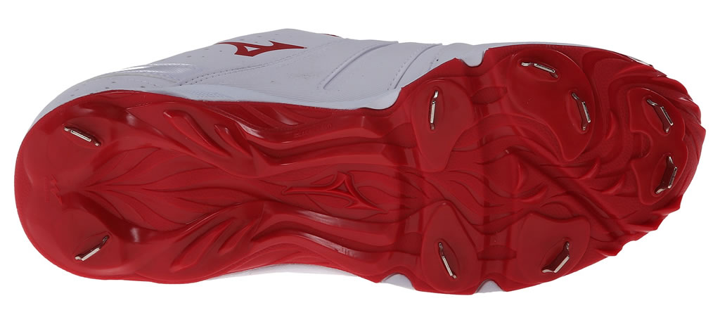 Red Women's 9-Spike Sweep 2 Fastpitch Cleat By Mizuno, Sole