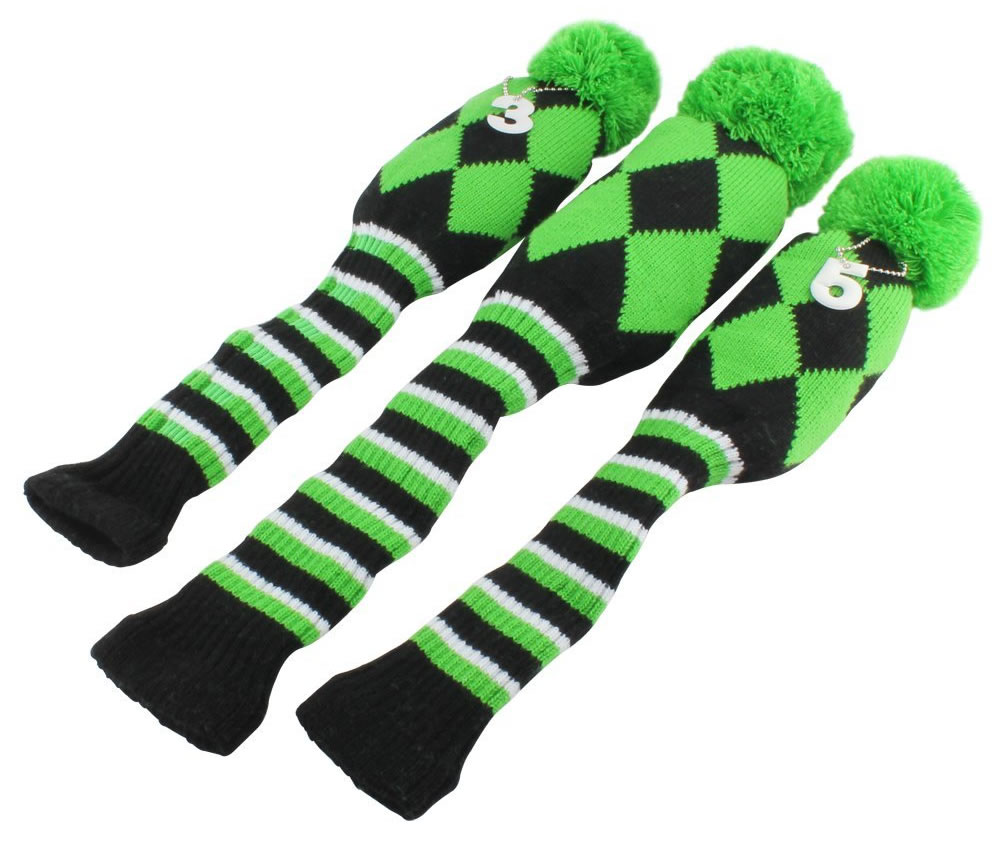 Vintage knit golf head covers