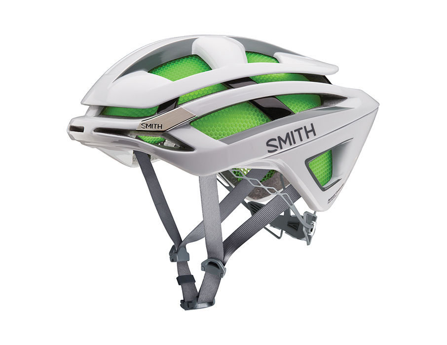 White Overtake Cycle Helmet For Men by Smith Optics