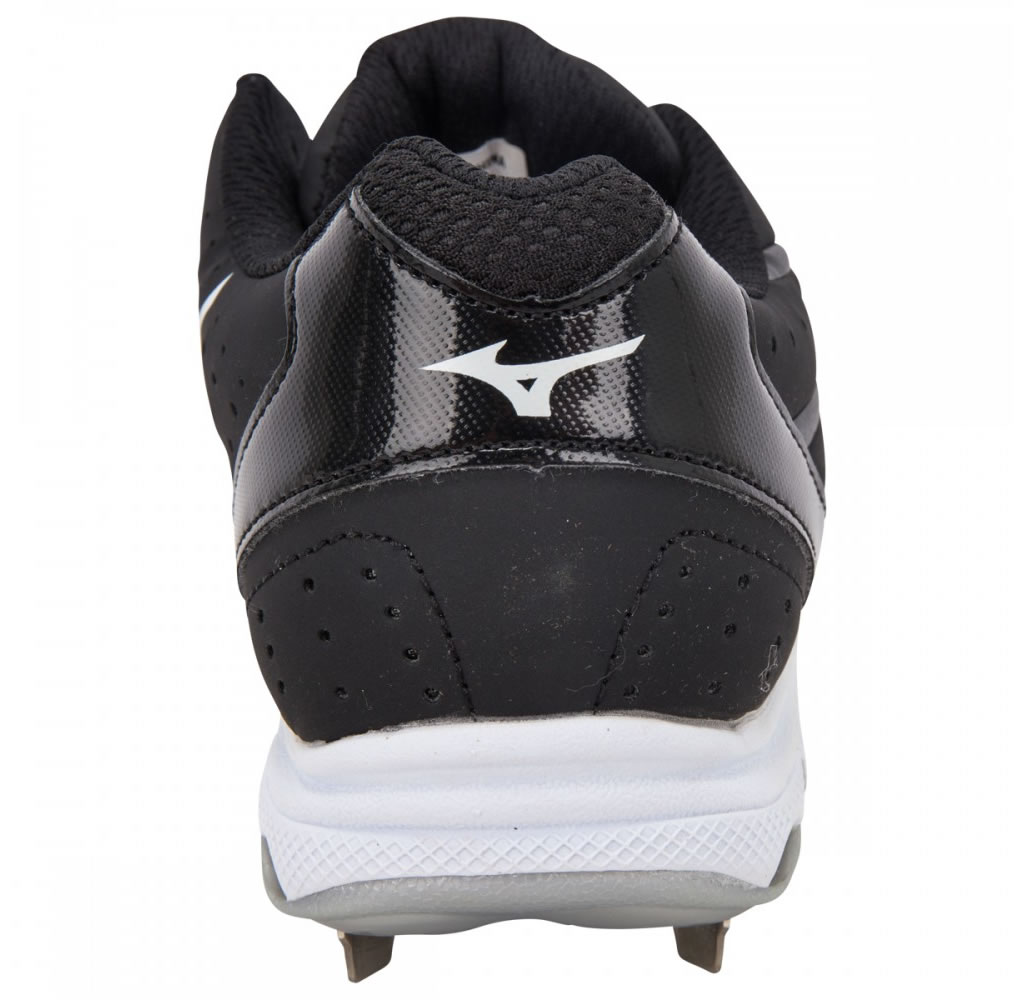 Women's 9-Spike Sweep 2 Fastpitch Cleat By Mizuno, Heel Tab