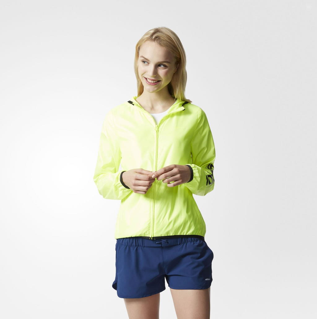 Yellow Windbreaker For Women By Adidas Neo