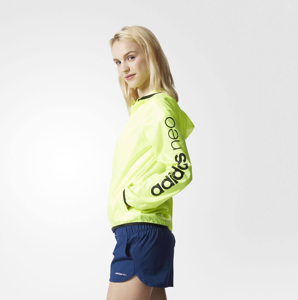 Yellow Windbreaker Jacket For Women By Adidas Neo