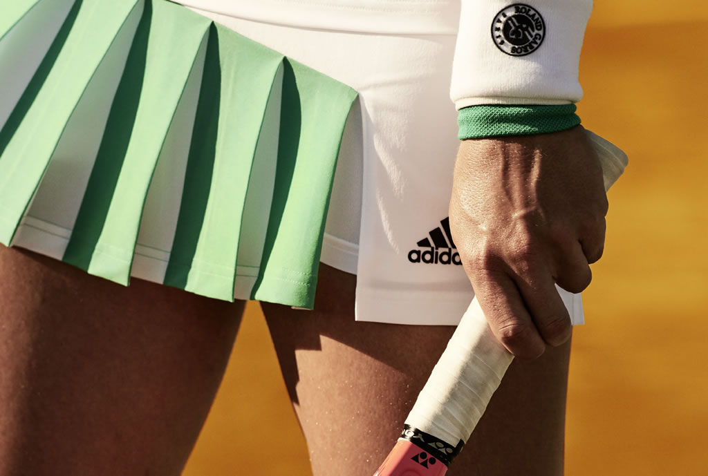 2017 Roland Garros Collection by Adidas, Green Skort