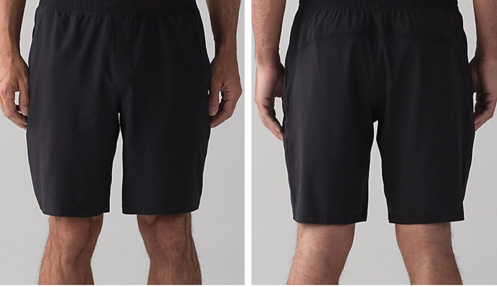 Black Pace Breaker Short For Men By Lululemon