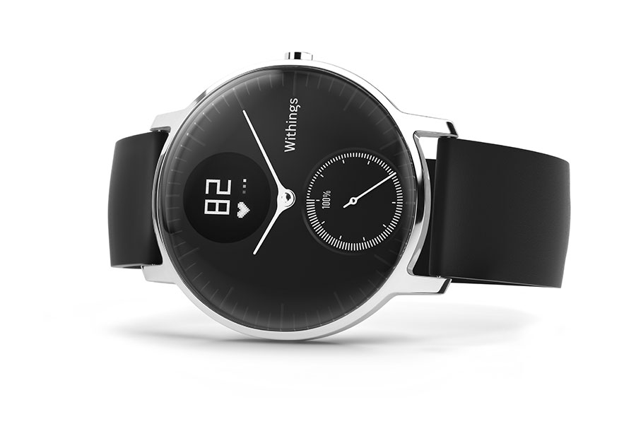 Black Steel Hr Smartwatch Activity Tracker by Withings