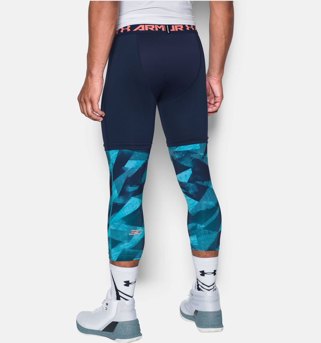 Blue basketball leggings for men by Under Armour