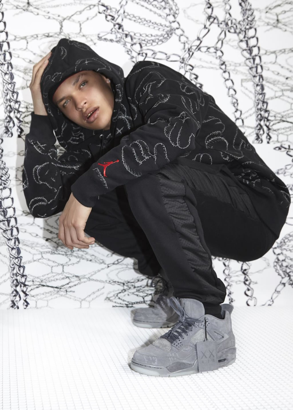 Capsule Collection By KAWS And Jordan, Black Hoodie