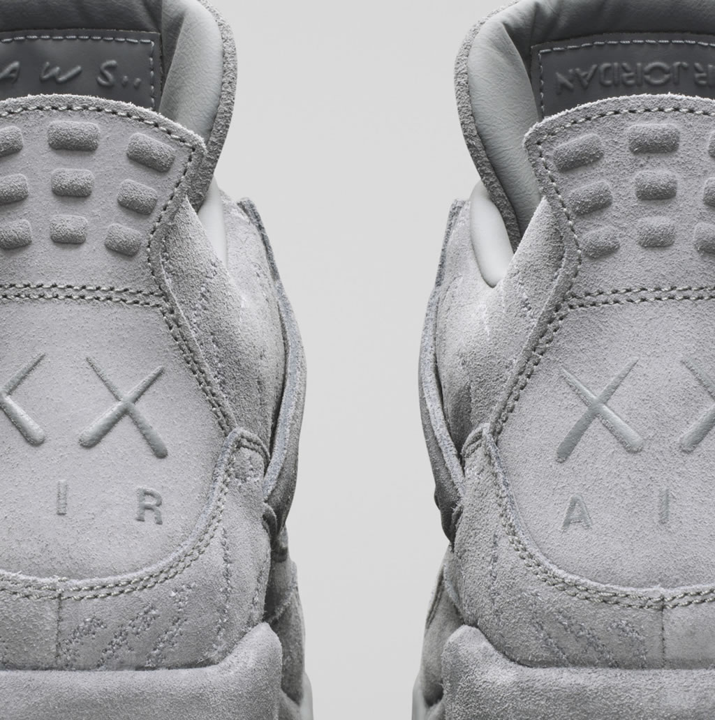 Grey Jordan IV x KAWS Shoes, XX Logo