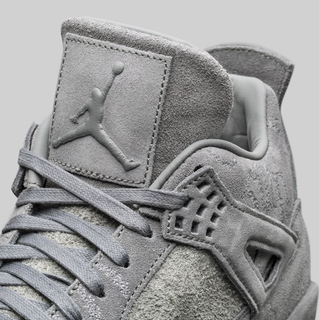 Grey Jordan IV x KAWS Shoes