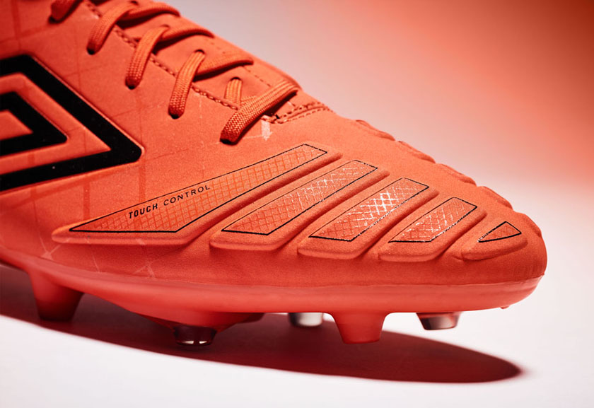 Orange UX Accuro Pro HG Football Boots by Umbro, Toe Tip