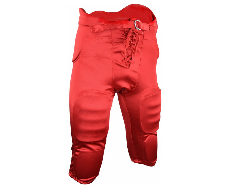 Red football pants with pads