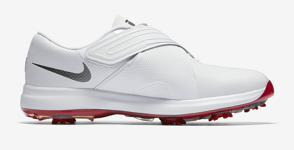 White Tiger Woods golf shoes by Nike, Side