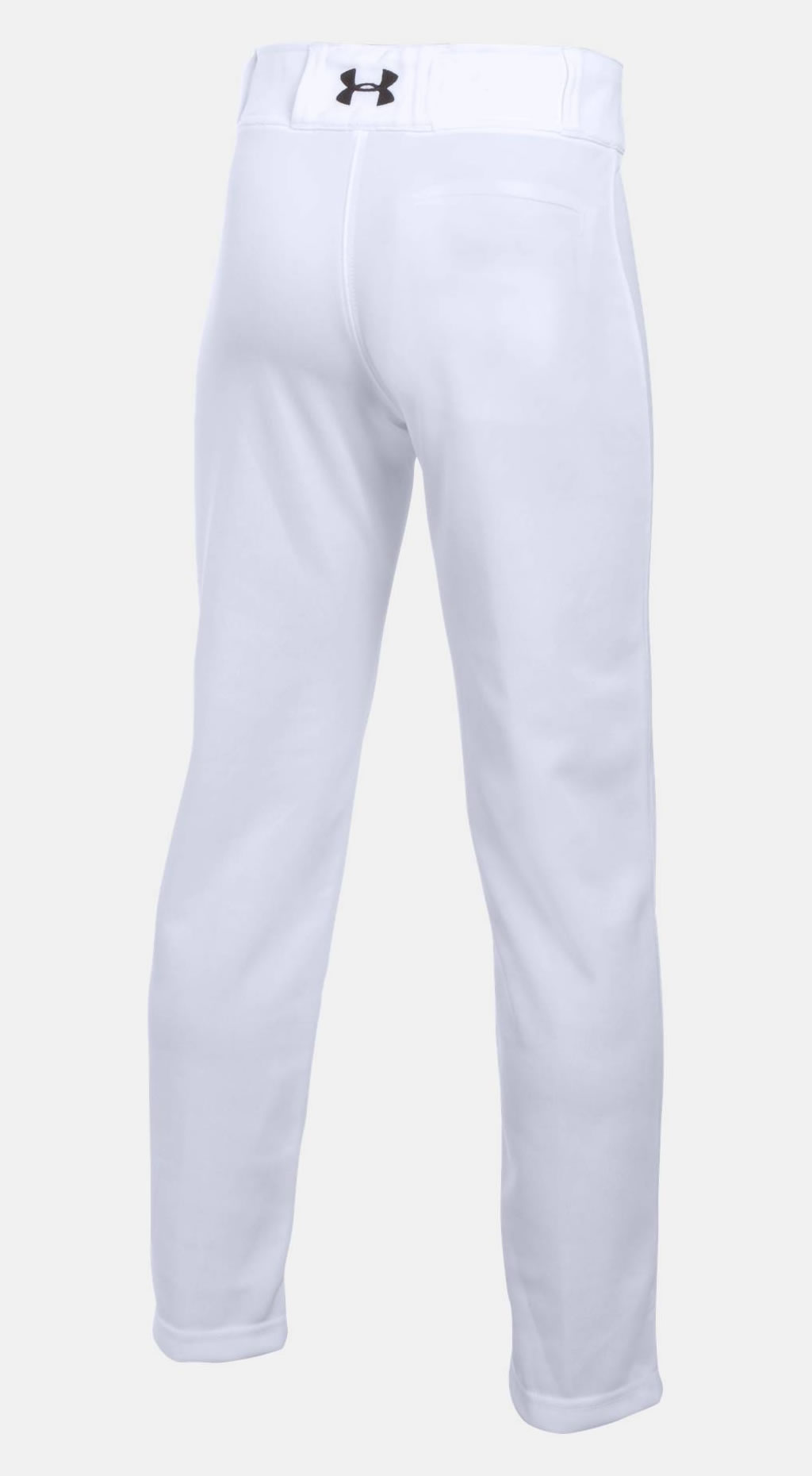 White baseball pants for boys by Under Armour, Back