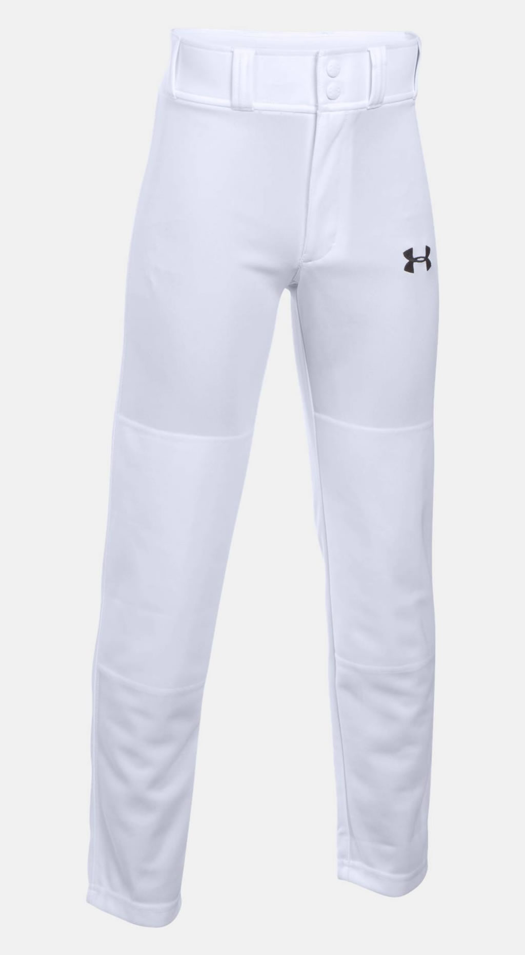 White baseball pants for boys by Under Armour