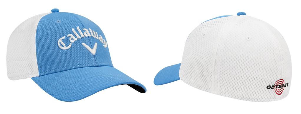 Blue Mesh Fitted Golf Cap by Callaway