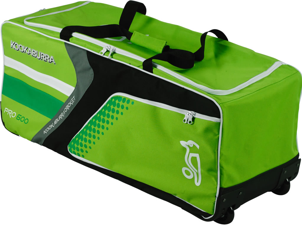 Green Pro 600 Wheelie Cricket Bag by Kookaburra