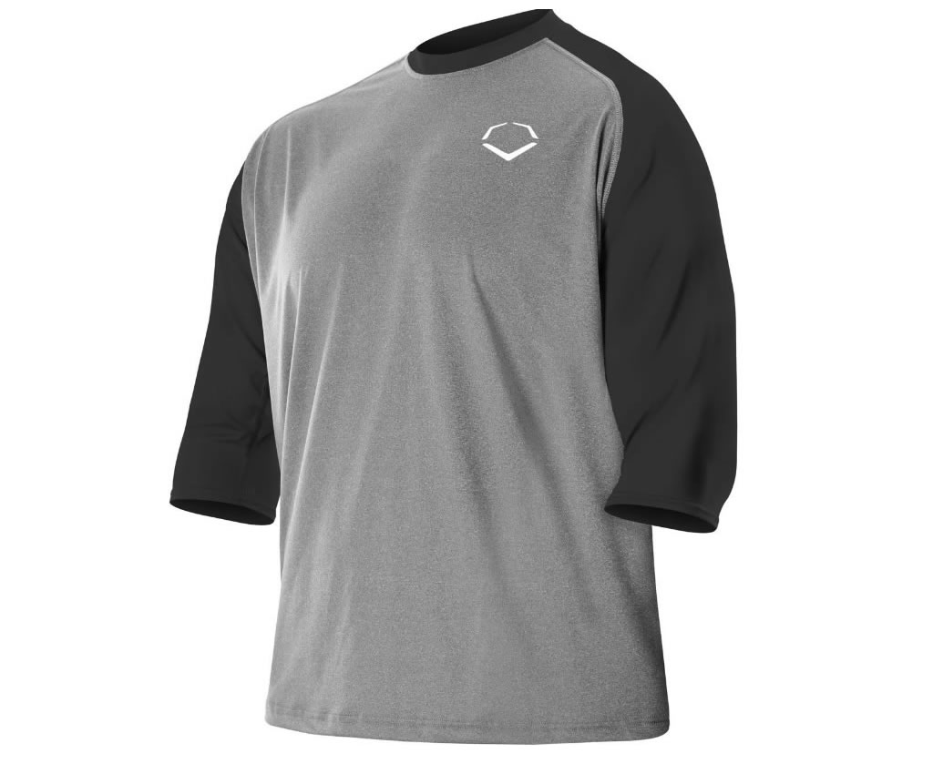 Men's 3-4 Sleeve Performance Shirt for Men by Evoshield