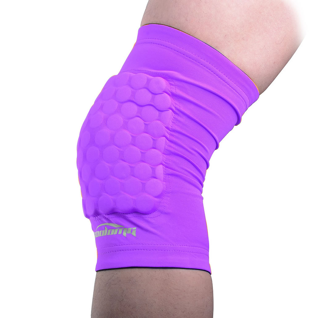 Purple Basketball Leg Knee Short Sleeve by Coolomg